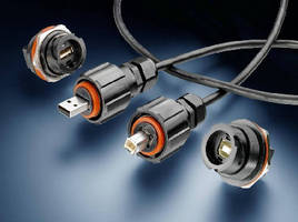 USB Connectors include latching and circular sealed types.