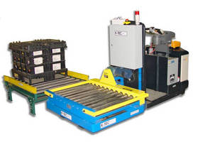 Rider Pallet Truck Outfitted with Powered Roller Conveyor