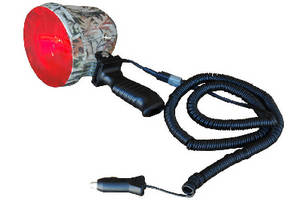 Handheld Camouflage Spotlight includes removable red lens.