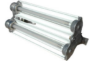 Explosionproof Fluorescent Light includes emergency backup.