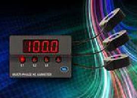 Digital Amp Meter Panel : Ac digital ammeter includes 3 built in current transformers.