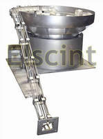 Elscint High Speed Vibratory Feeder for Plastic Spouts with Cap Forward