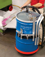 Reversible Drum Vacuum provides quiet 86 dBA operation.