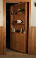 Swiveling Door keeps doorways concealed.