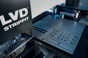 CNC Turret Punch Press accommodates large workpieces.