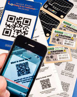 Permanent Labels with QR Codes can brand, identify products.