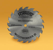 "Forrest's 20-Tooth, 10"" Woodworker II Blades Are Ideal for Making Fast-Feed Rip Cuts Without Burning"
