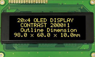 PMOLED 20x4 Character LCD Modules