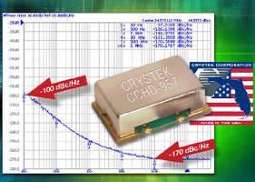 Clock Oscillator controls frequency for HD audio equipment.