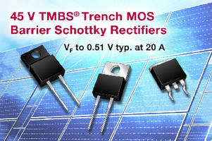 Schottky Rectifiers offer PV solar cell bypass protection.