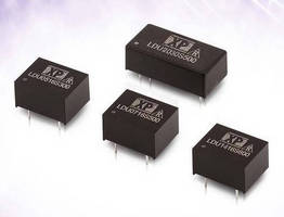 Miniature PCB-Mount LED Drivers operate with high efficiency.