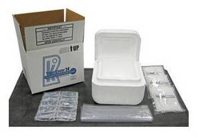 Shipping Containers maintain temperature of contents for 24 hr.