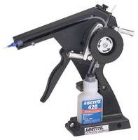 Hand Pump precisely dispenses instant adhesives.