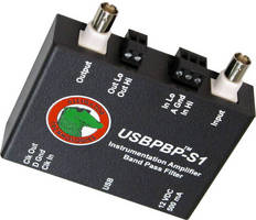 Instrumentation Amp, Bandpass Filter enables flexible DAQ.
