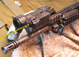 Green, Eye-Safe Laser Pointers enhance rifle laser system.