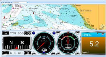 Navigation Software facilitates boat trip planning.