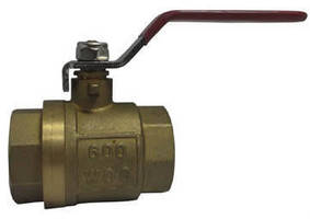 Brass Ball Valve features pressure limit of 600 psi WOG.
