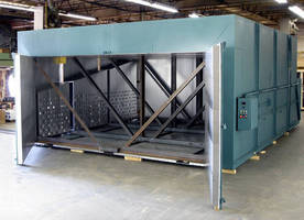 Walk-In Batch Oven is electrically heated to 500°F.