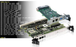 Diagostics Software determines processor board health.