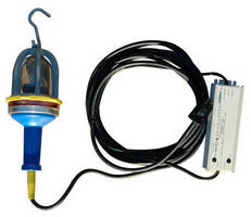 Explosion Proof LED Drop Light features inline transformer.