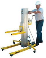 Contractor Lift moves 450 lb loads vertically up to 17 ft.