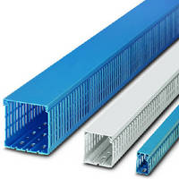 Wire Ducts come in blue and white options.