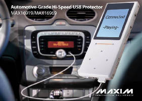 USB Protector ICs provide automotive-grade ESD protection.