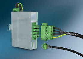 Inverted PCB Terminal Blocks offer touchproof connections.