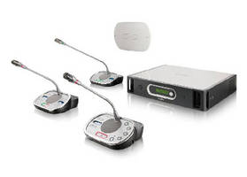 Wireless Discussion System includes voice activation mode.