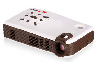 Portable Projector delivers Hi-Res images direct from USB drive.