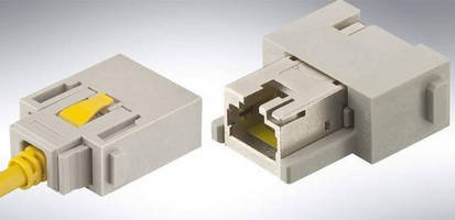 Open Connector System supports RJ45 module 10 Gbps transmission.