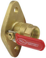 Brass Ball Valve features uni-flanged design.