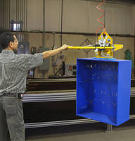 Vacuum Lifter lets one worker lift up to 2,000 lb enclosure.