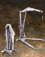 Foldable Floor Cranes offer 1,000 lb lifting capacity.