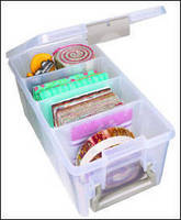 Clear PP Case offers removable dividers for storage options.