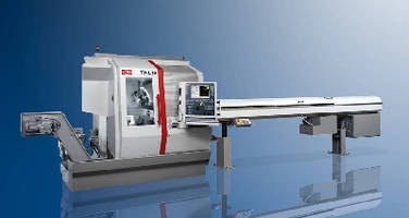 Automatic Lathe features B axis for machining at any angle.