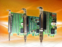 Digital I/O DAQ Cards implement PCI Express x1 interface.