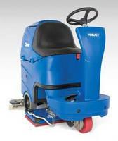 Riding Floor Scrubber has compact design.
