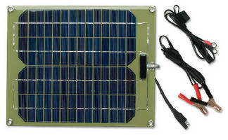 Solar Charger keeps vehicles in long-term storage charged.