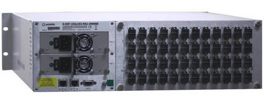 Optical Matrix Switch cross connects up to 192 x 192 fiber ports.