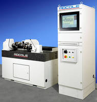 Surface Roughness Machine accommodates crankshafts, camshafts.