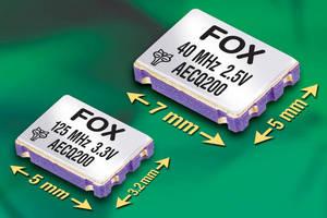 Fox Now Offers Widest Range of AEC-Q200-Qualified Crystal Oscillators