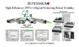Digital Switching Power Supplies achieve 95%+ efficiency.