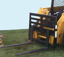 Skid Steer Pallet Fork features one-piece backstop.