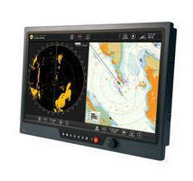 Widescreen LCD Monitor is built for marine/all-weather areas.