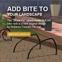 Unique Shark-Fin Style Bike Racks Add Bite to Your Landscape
