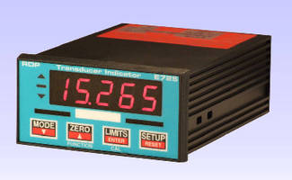Signal Conditioner offers local display of transducer values.