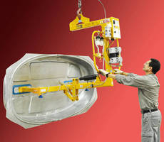 Vacuum Lifter/Flipper handles large stampings and molded parts.