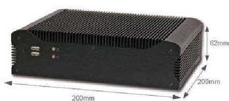 Mini-ITX Embedded Computer supports full HD 1080p graphics.