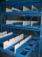 Roll-Out Shelving Racks help minimize handling time.